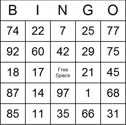 6 Images of Free Custom Bingo Cards Printable