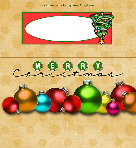 7 Images of Holiday Candy Wrappers Printable