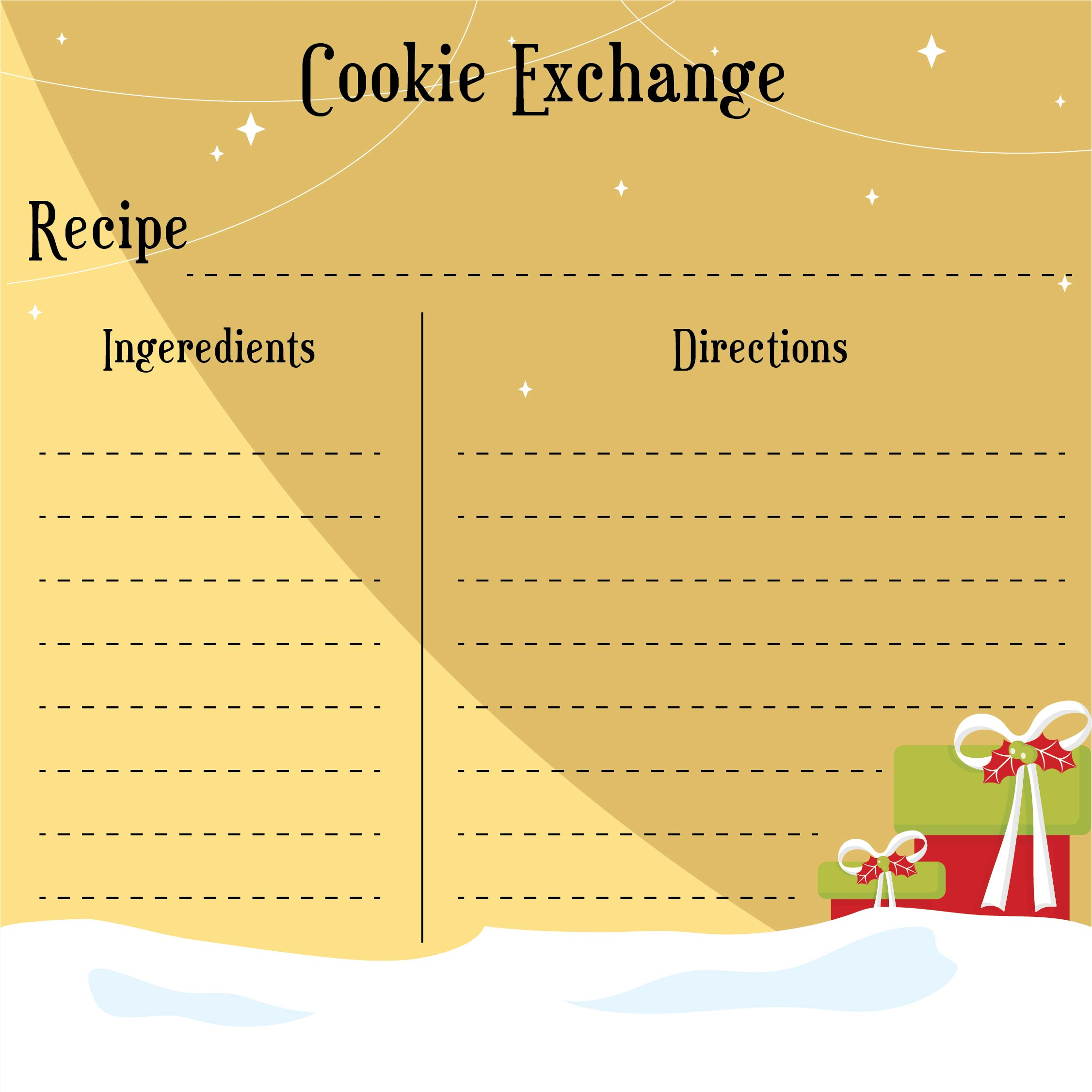 Printable Christmas Cookie Recipes