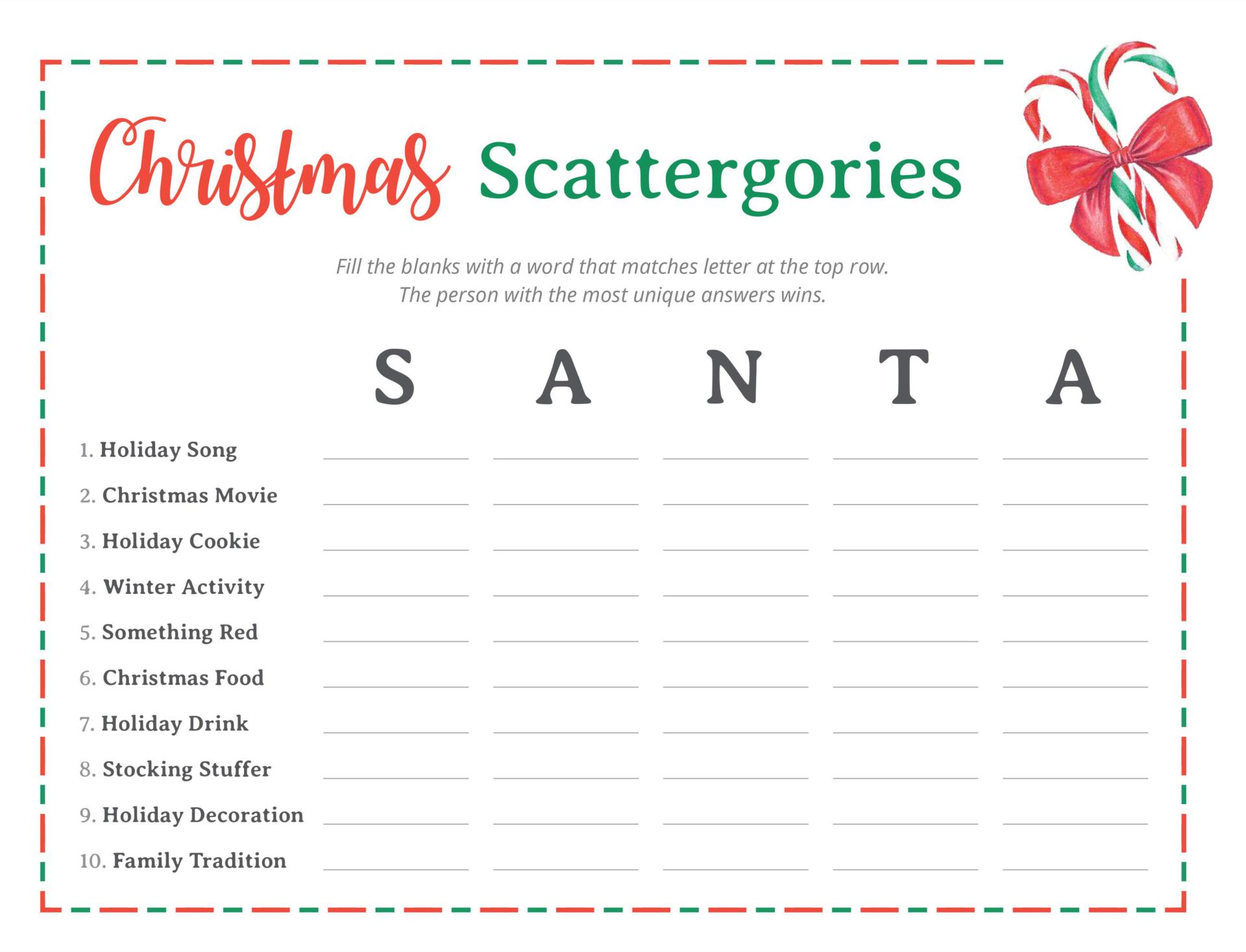 5 Images of Free Printable Christmas Carol Trivia Game