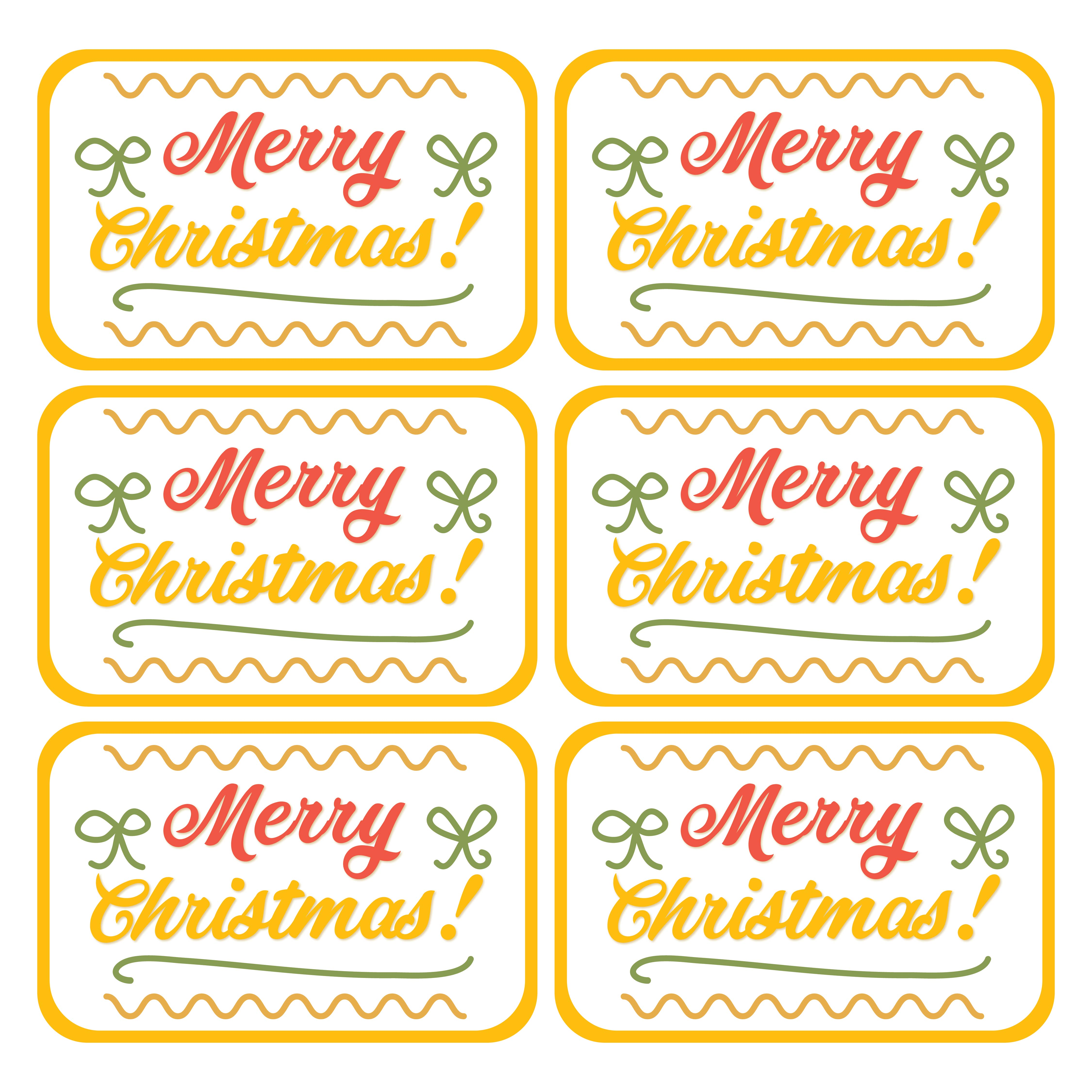 6 Images of Free Printable Christmas Gift Tags PDF