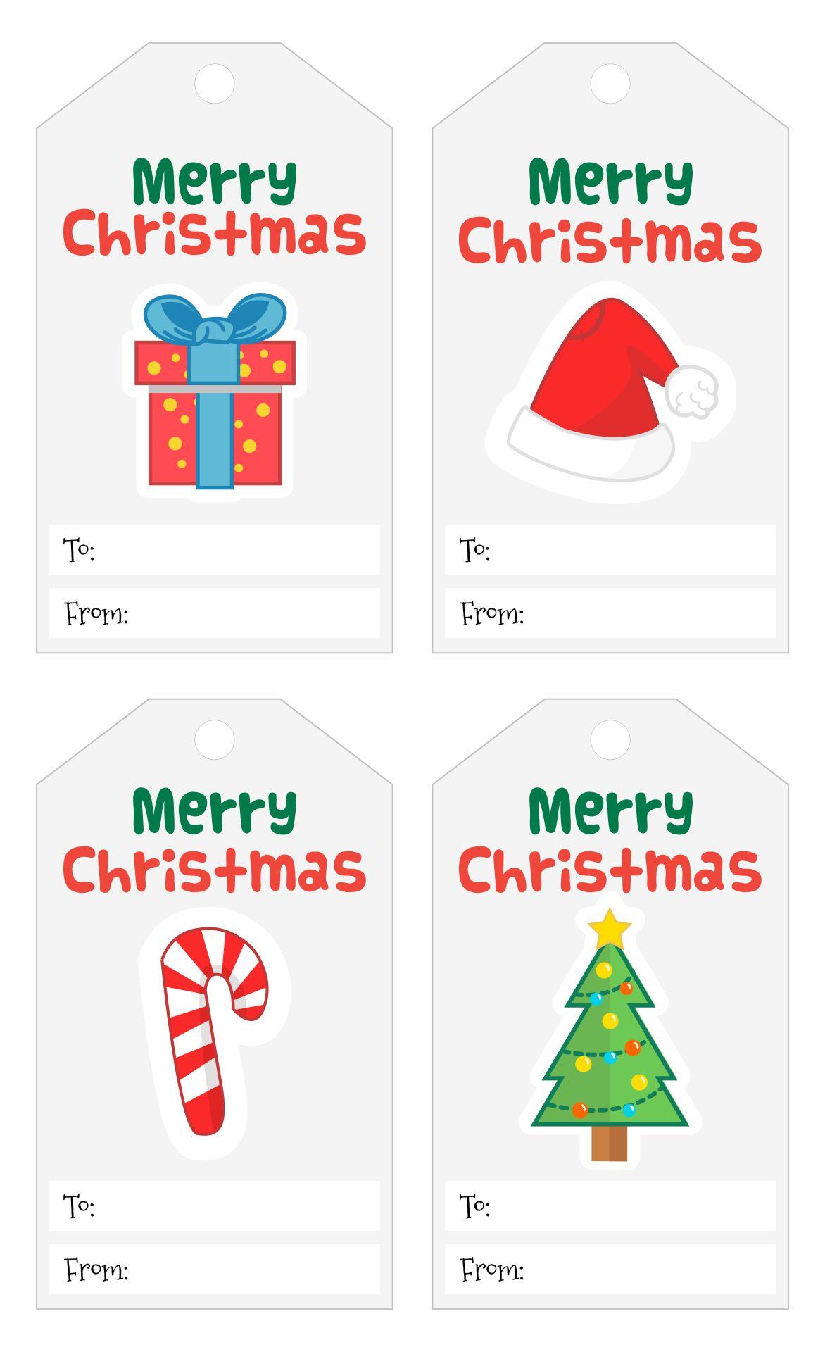 5 Images of Printable Christmas Gift Tags