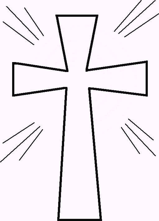 5 Images of Cross Outlines Printables