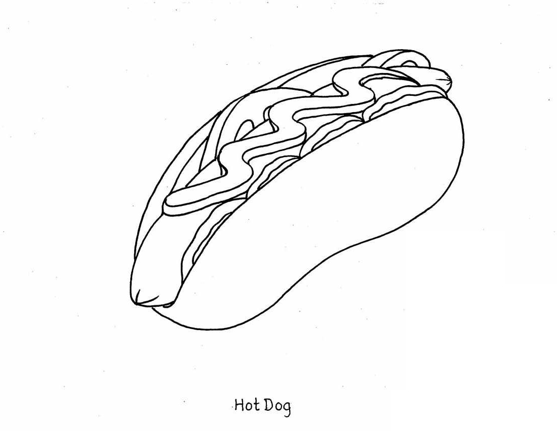 4 Images of Printable Coloring Pages Of Food