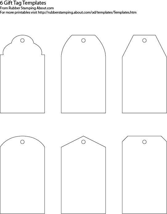 5 Images of Printable Customizable Blank Tags