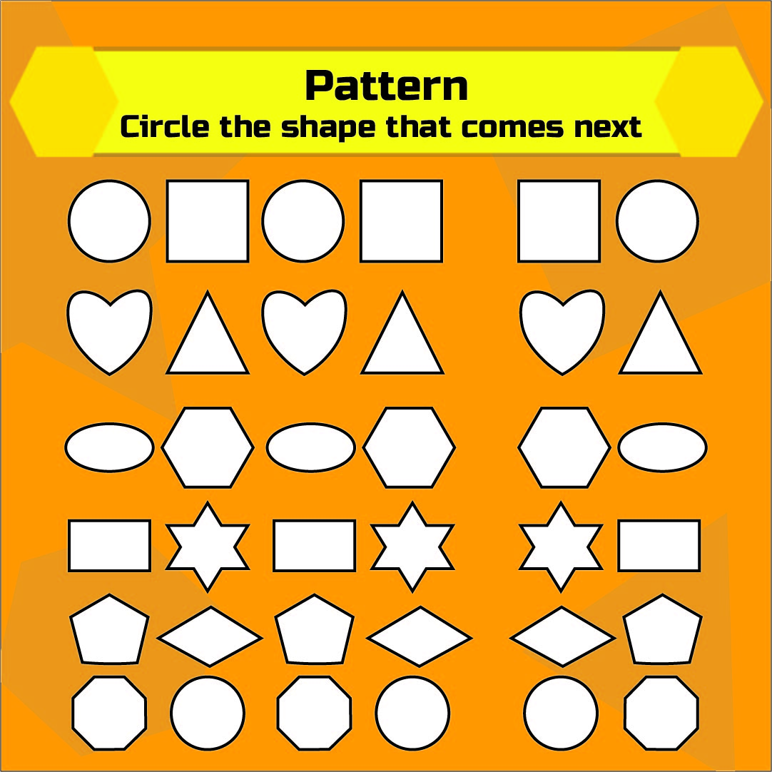 Free Printable Kindergarten Pattern Worksheet