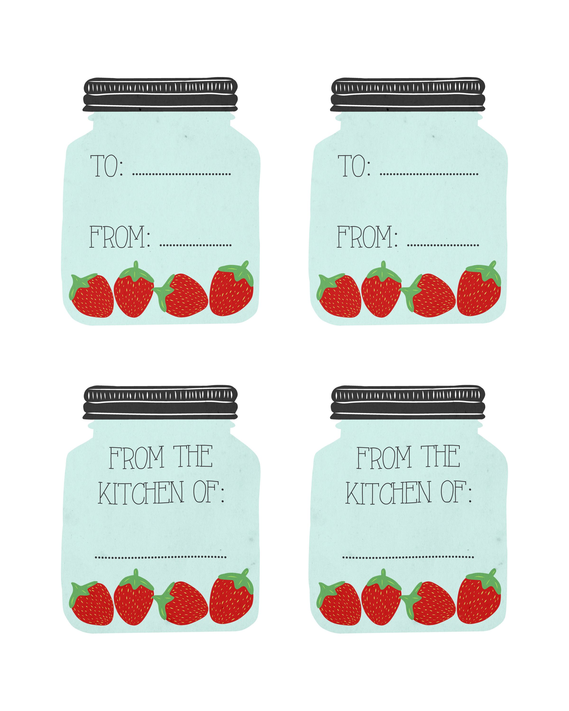 6 Best Images Of Cute Printable Recipe Cards Strawberry