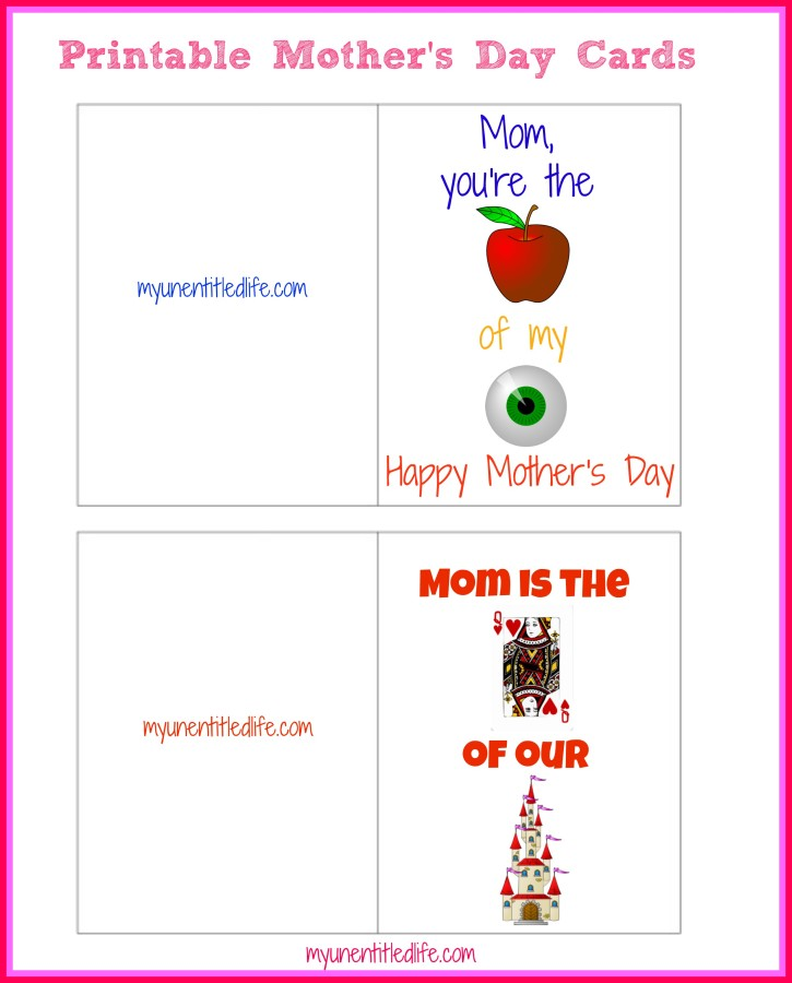 5 Images of Printable Cards To Be Mother