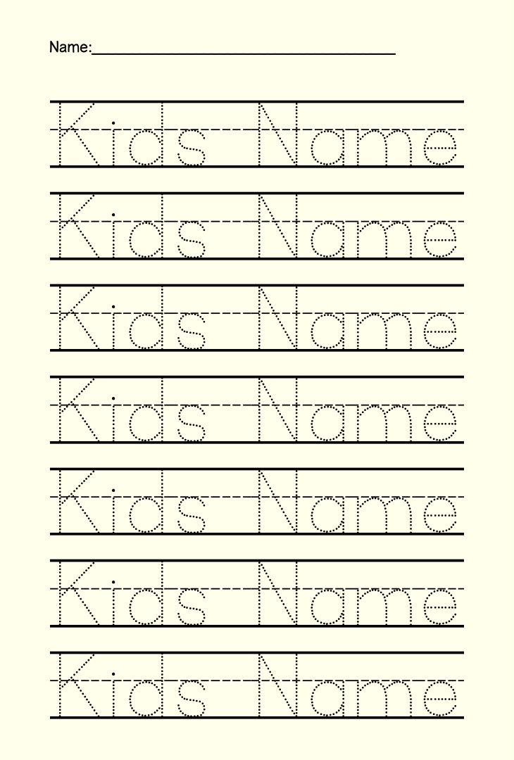 6 Images of Preschool Name Tracing Printable