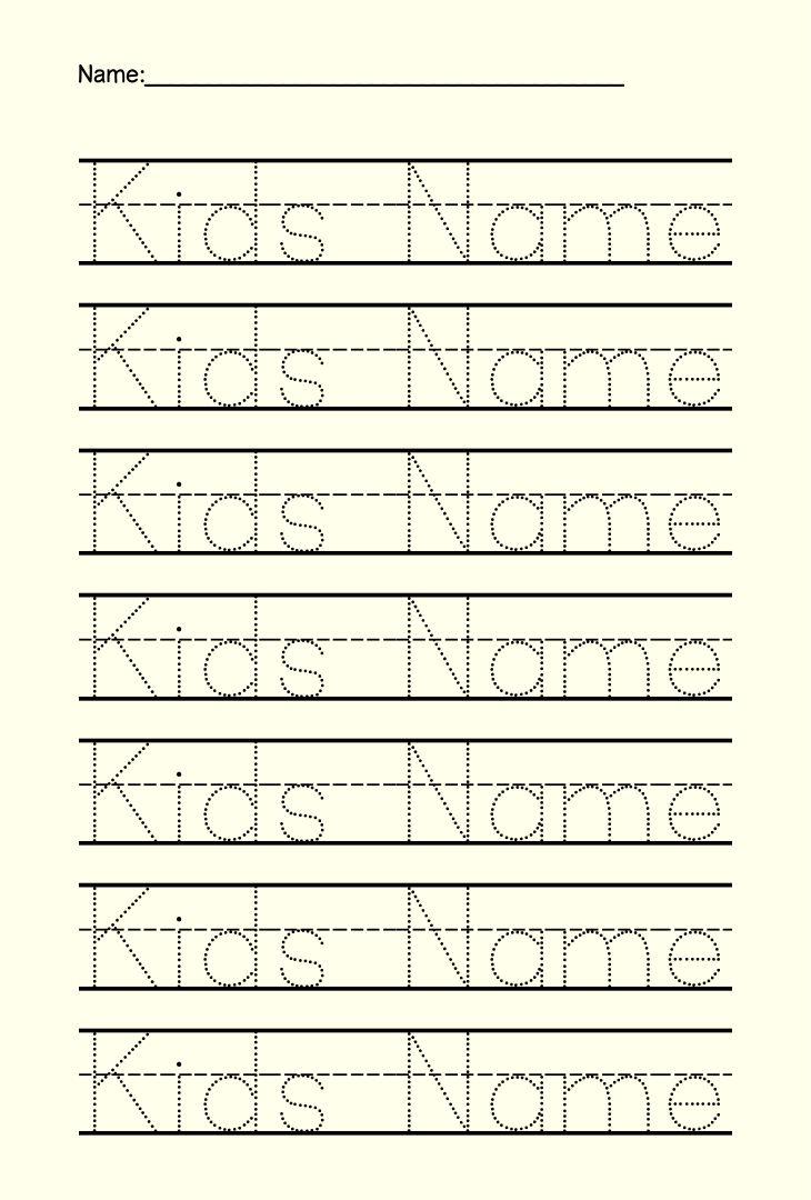 Printable Name Tracing Worksheets Preschool