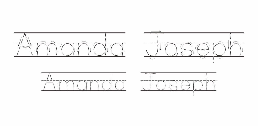 6 Best Preschool Name Tracing Printable - printablee.com