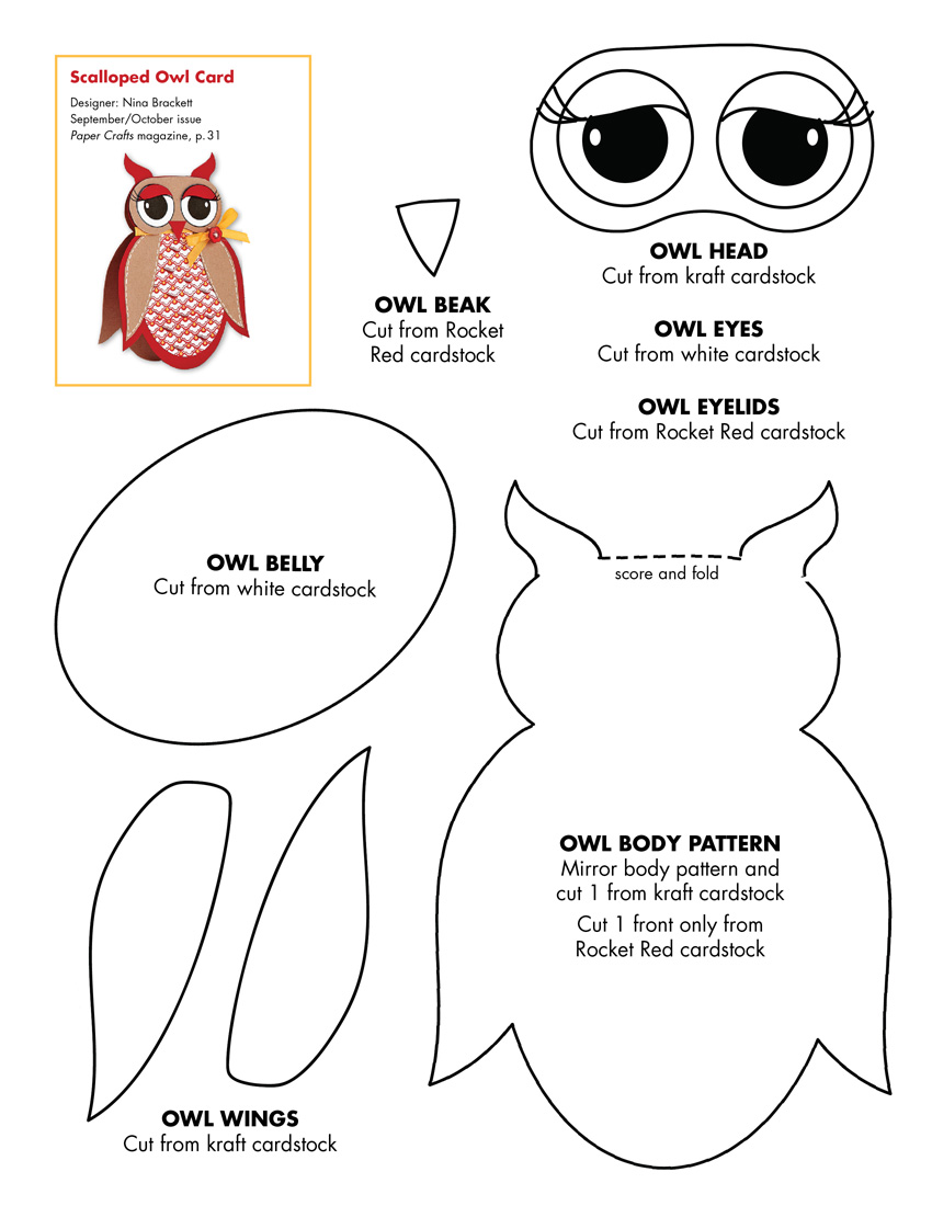 Free Printable Owl Pattern Template