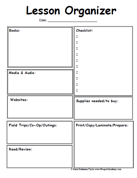 Free Lesson Plan Template For Elementary School Free Business Plan Template English Language