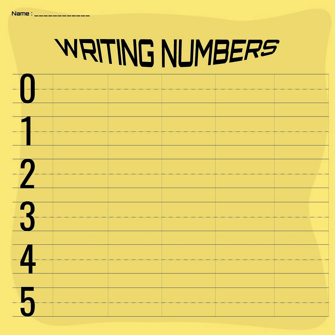 Free Printable Preschool Writing Numbers Worksheets