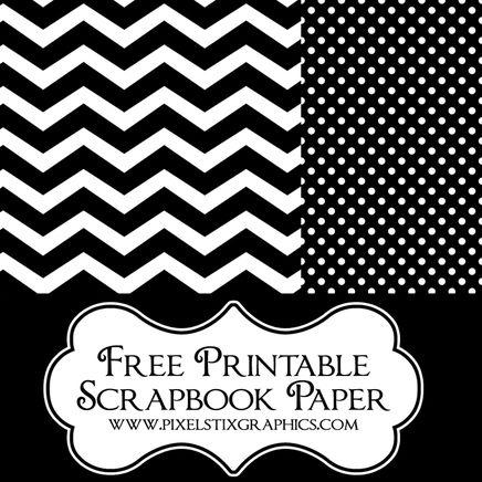 6 Images of Free Printable Chevron Scrapbook Paper