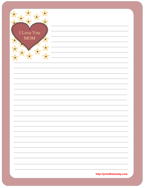 8 Images of Free Printable Love Stationery