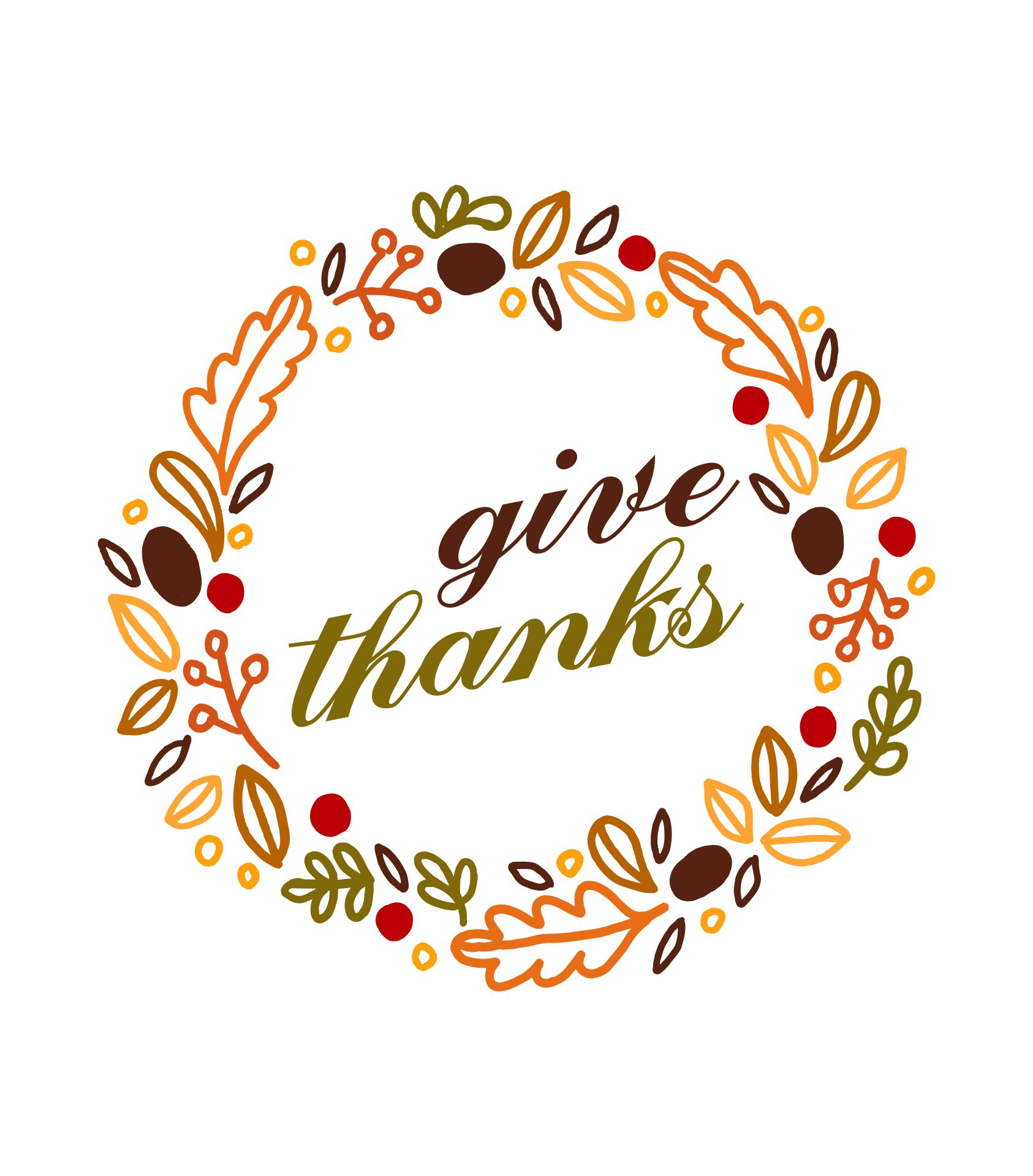 Printable Thanksgiving Art