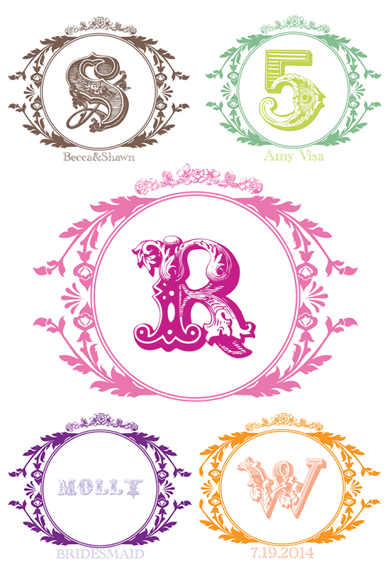 5 Images of Free Printable Personalized Monograms