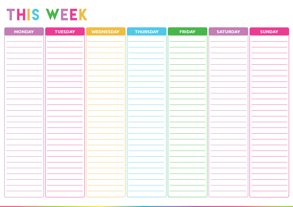 Free Printable Weekly Do List Template