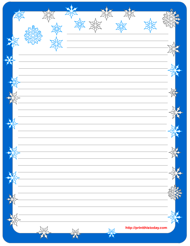 5 Images of Free Printable Winter Stationery Paper