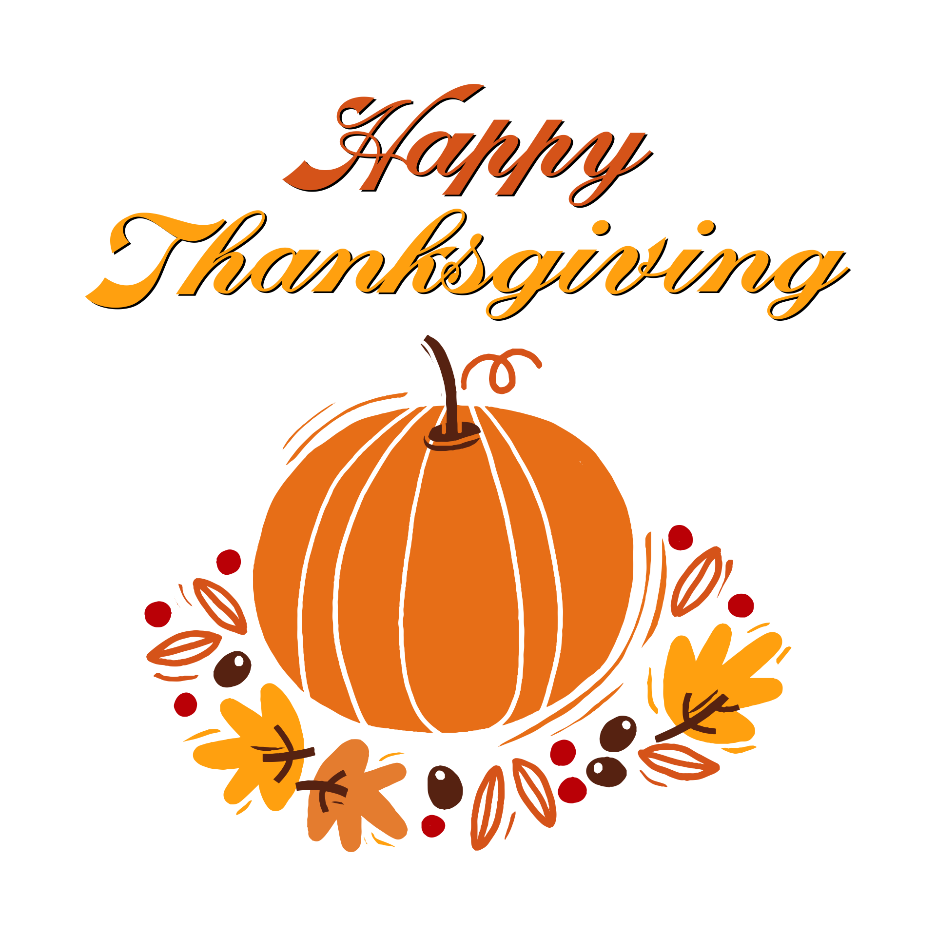 Thanksgiving Word Clip Art