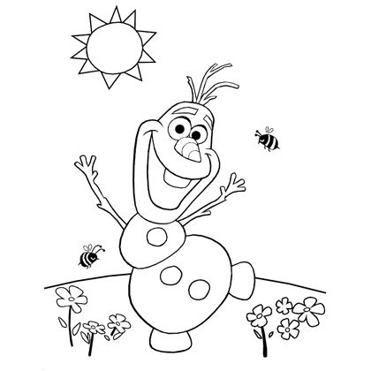 4 Images of Olaf Coloring Pages Printable