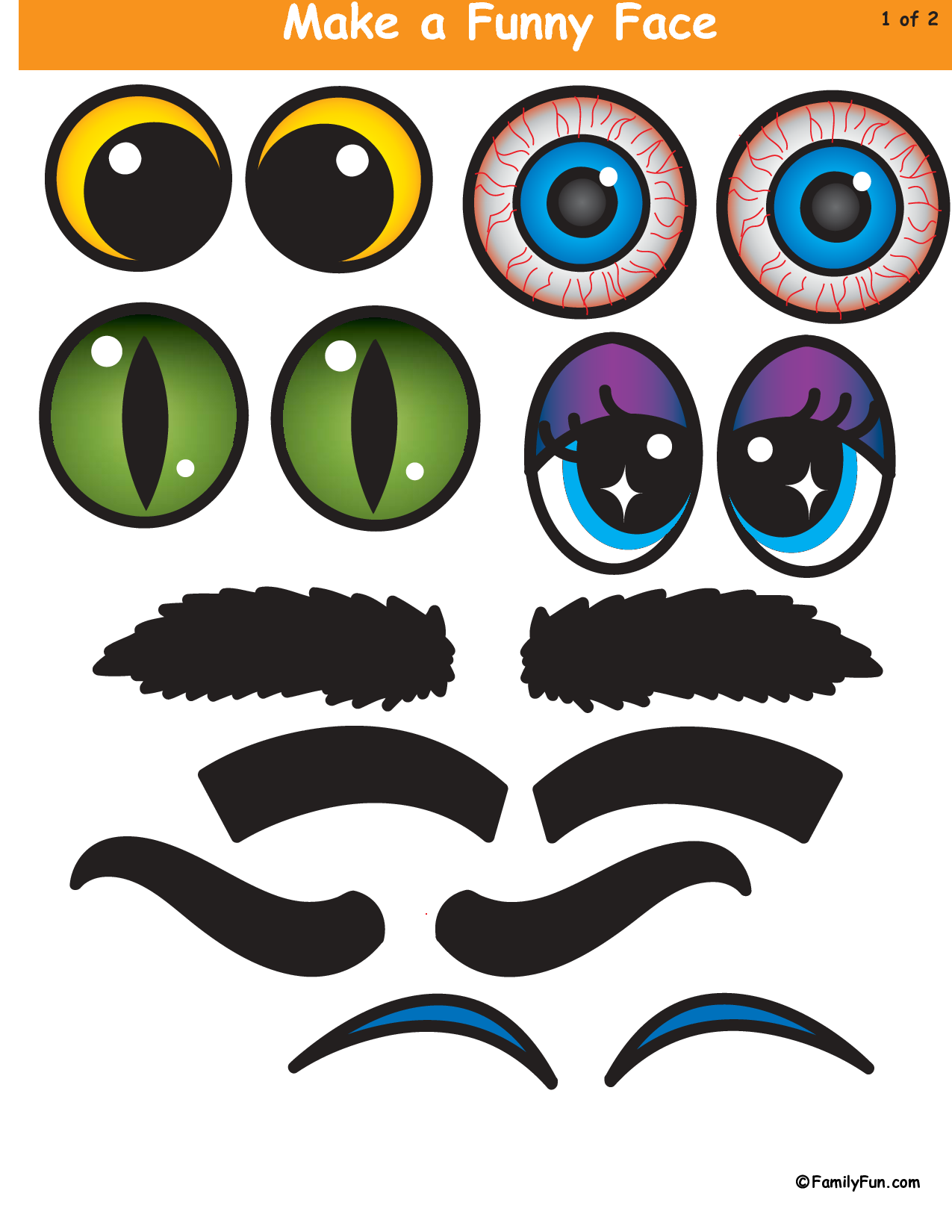 4 Images of Funny Pumpkin Faces Printables