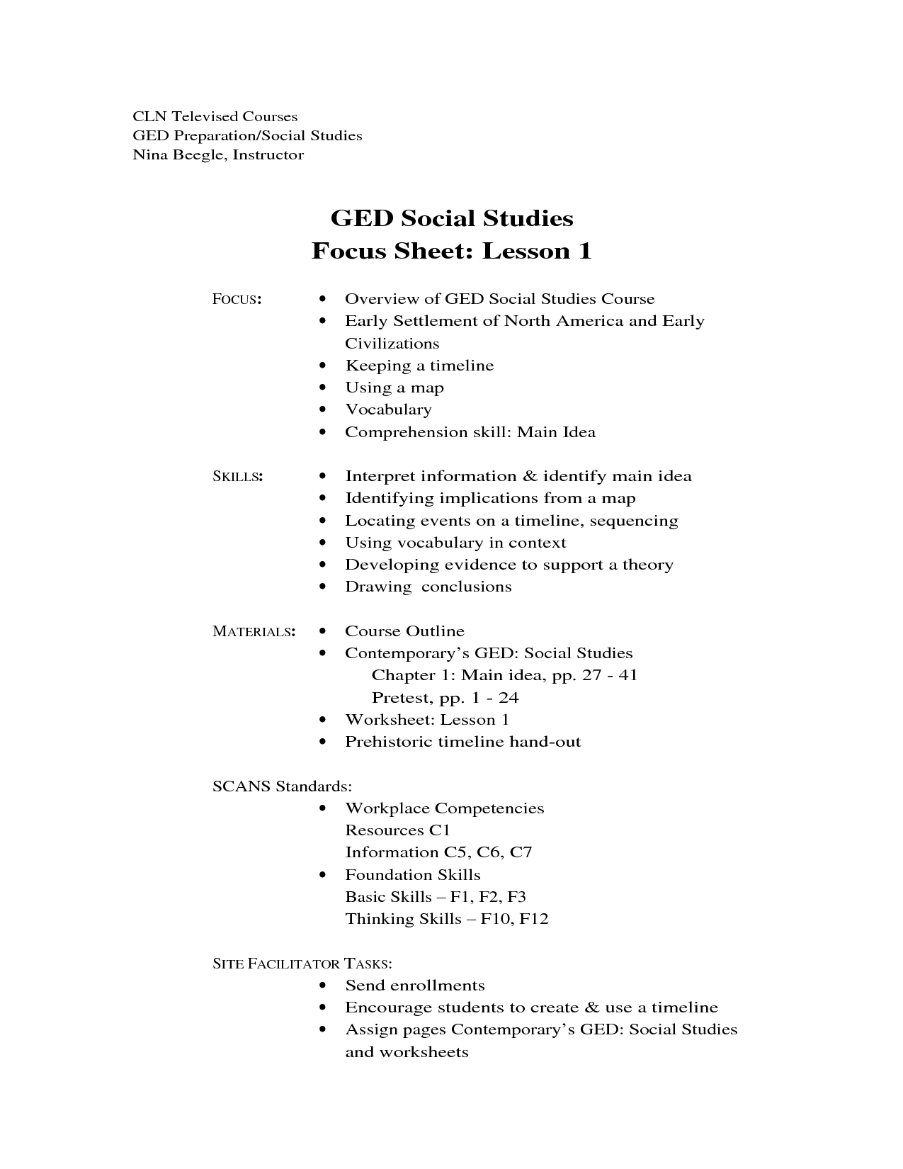 math worksheet : 6 best images of printable ged workbooks  ged social studies  : Free Ged Math Practice Worksheets