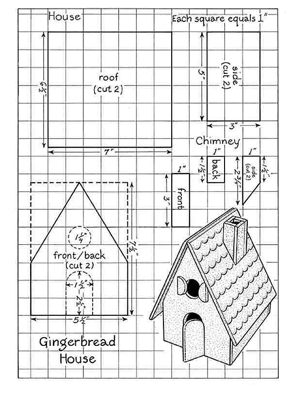 Gingerbread House Template 4 best images of printable gingerbread ...