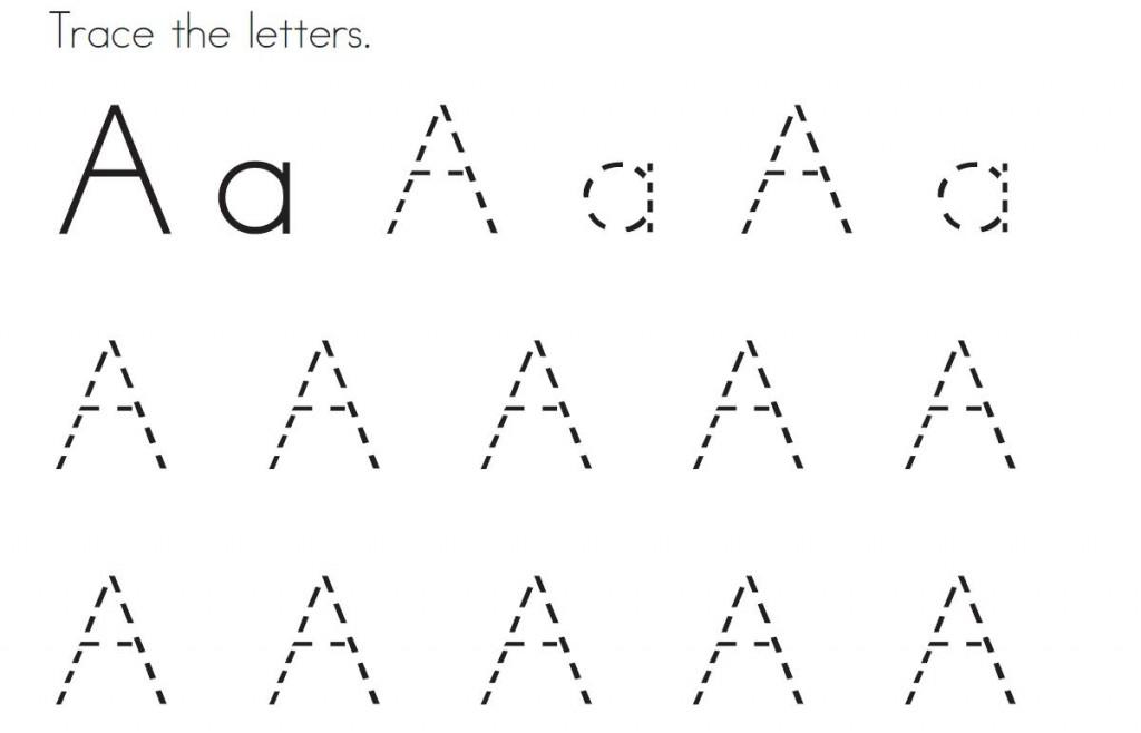 Kids Letter Tracing Printables