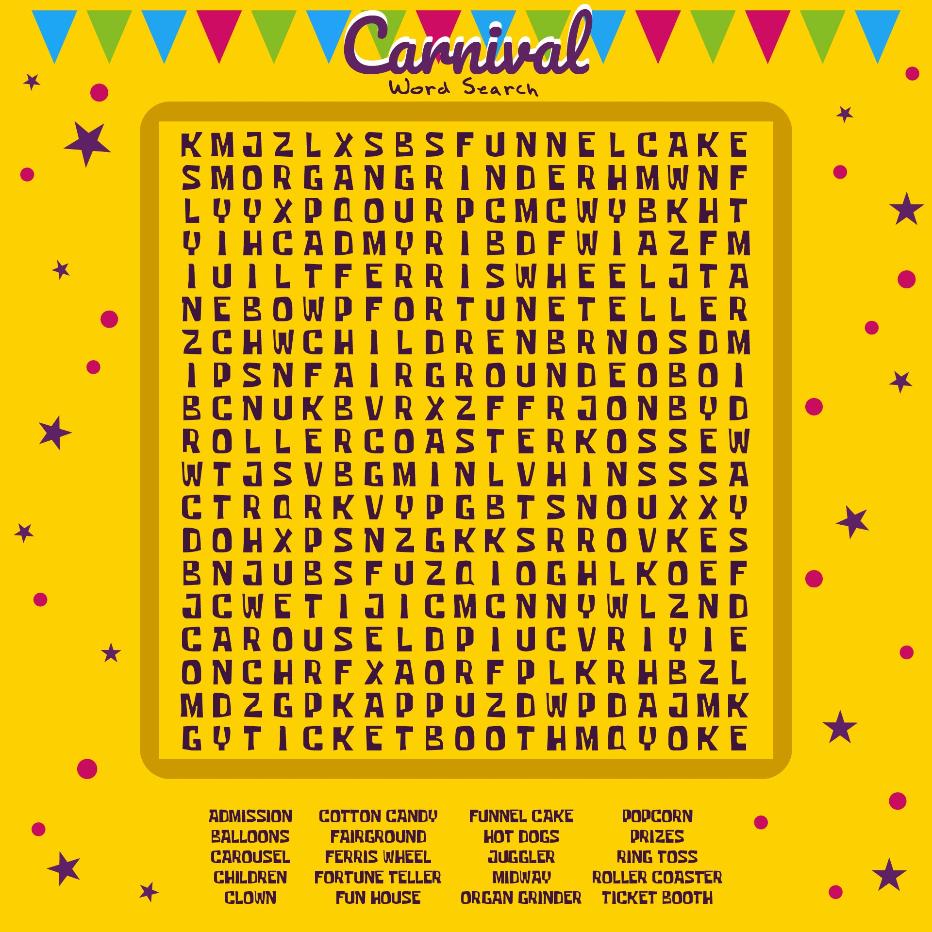 Printable Word Search Puzzles: