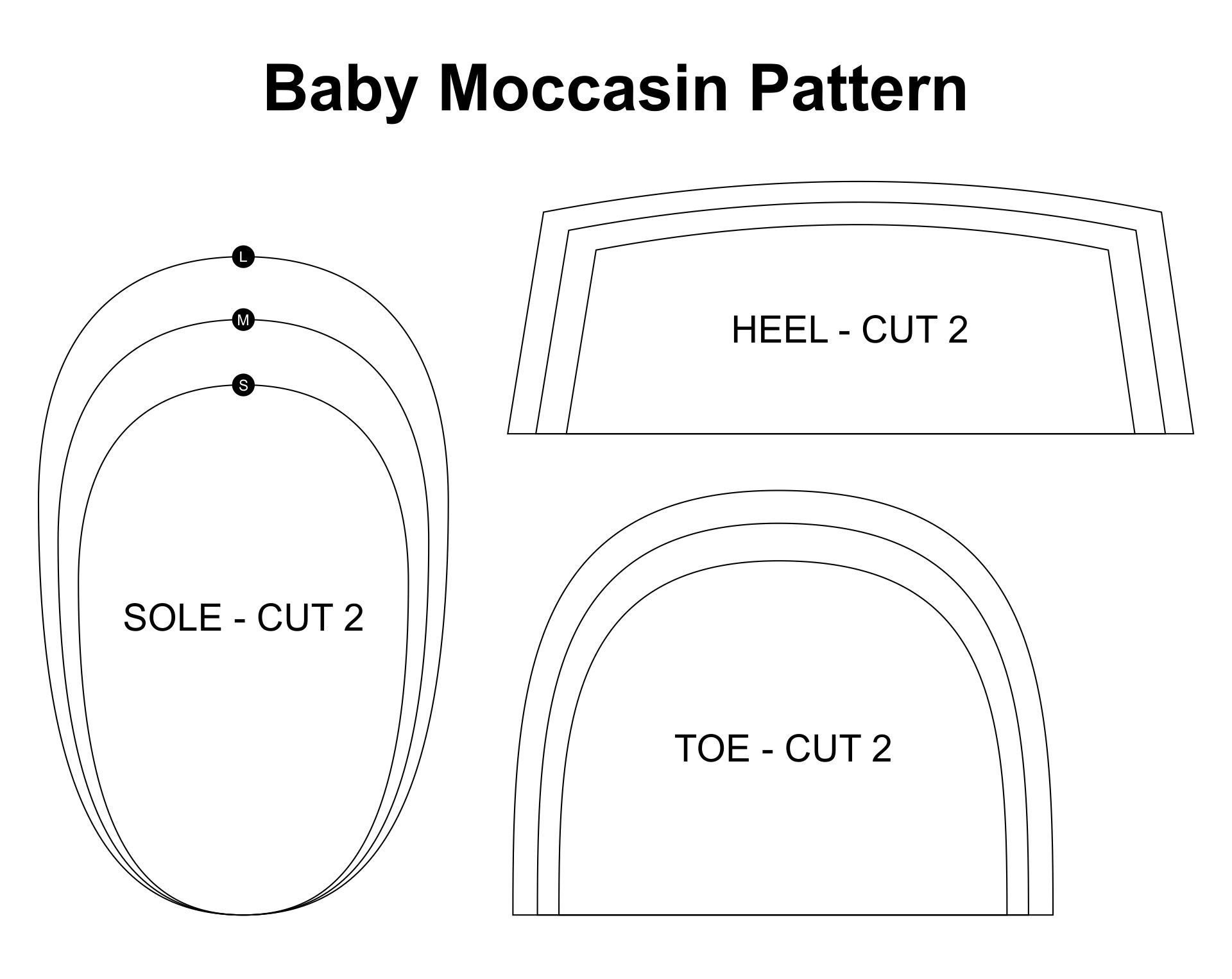 Leather Baby Moccasin Pattern-Free