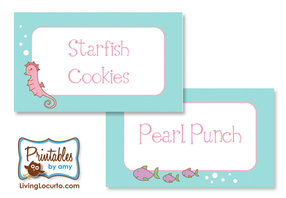 6 Images of Customizable Party Label Printables