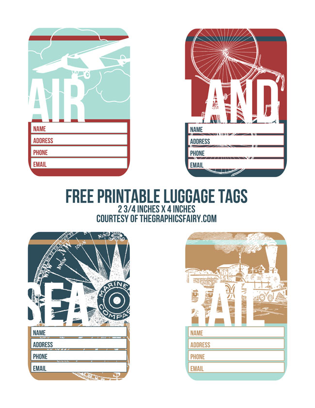 5 Images of Monster Printable Luggage Tags