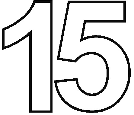 4 Images of Printable Number 15