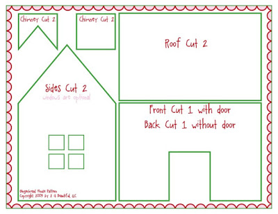 paper gingerbread house template printable - photo #19