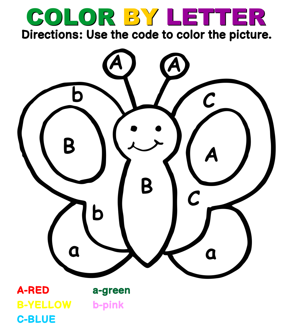 Preschool Color by Letter Worksheets