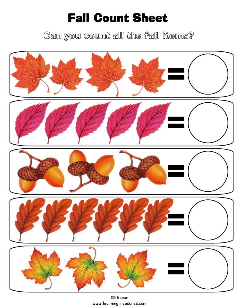 Autumn - Fall Preschool Worksheets, Fall Preschool Worksheets ...