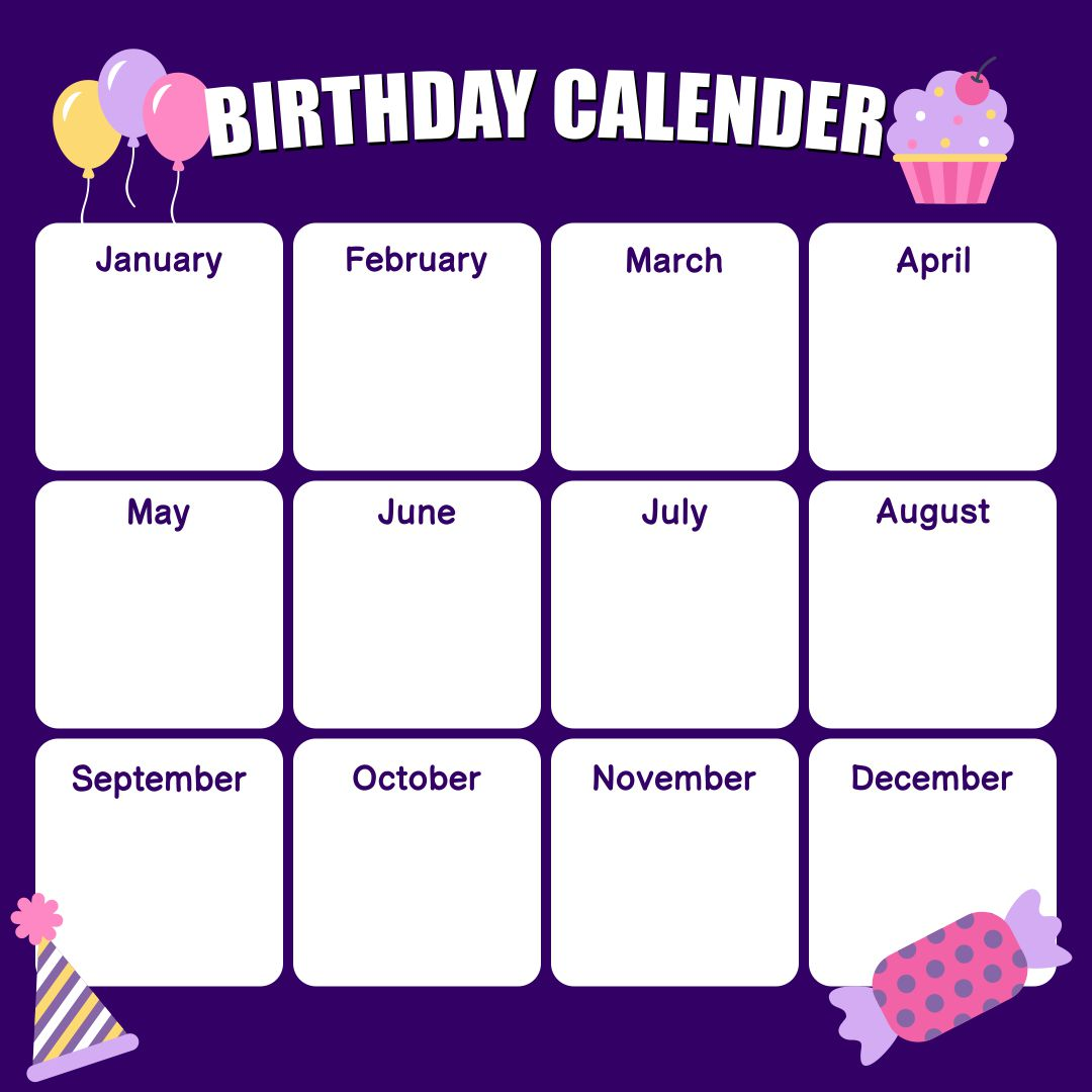 free birthday templates - 8 best images of office birthday list printable