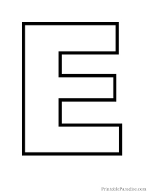 Printable Letter E - Coffemix