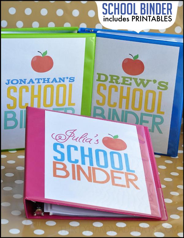 8 Images of School Binder Printables