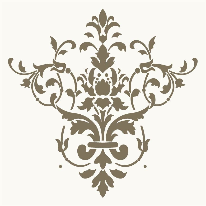 8 best images of free printable wall stencils damask for Printable stencils for canvas painting