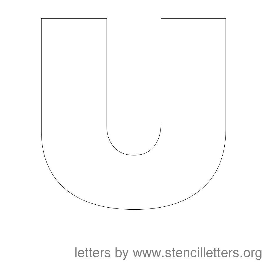 Printable Block Letter Stencils, Printable Block Letters & Printable ...