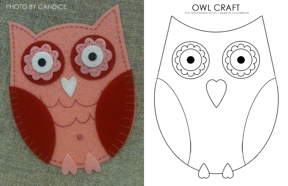 5 Images of Owl Printable Craft Patterns
