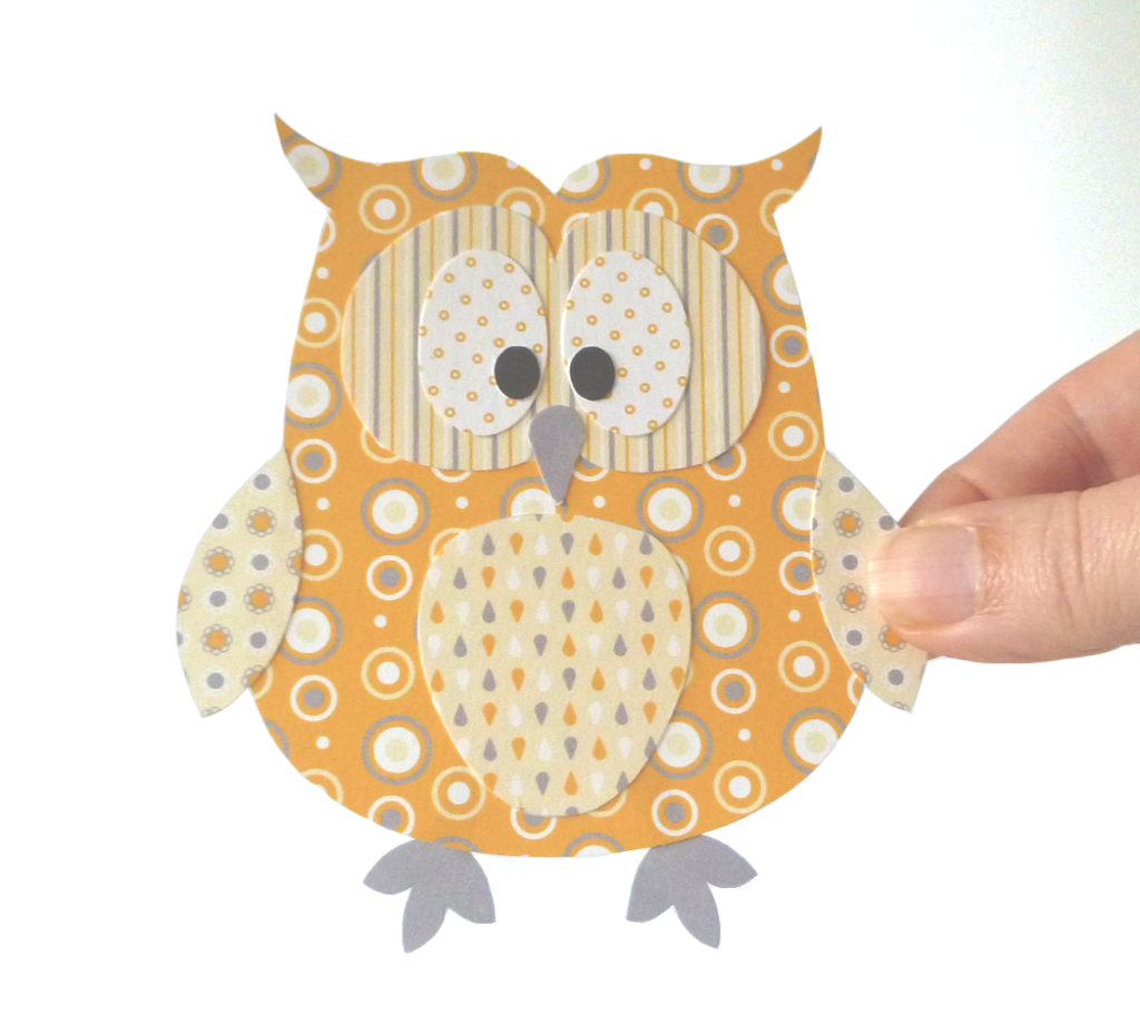 Printable Paper Owl Pattern