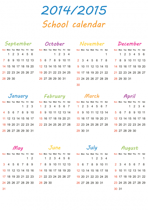 Calendars 2015 4 months on a page autos post for 4 month calendar template 2014