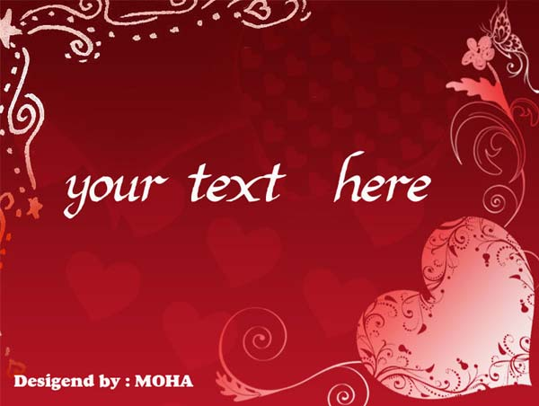 6 Images of Romantic Printable Valentine Cards