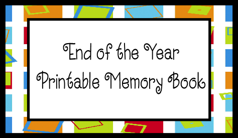5 Images of School Memory Book Printables