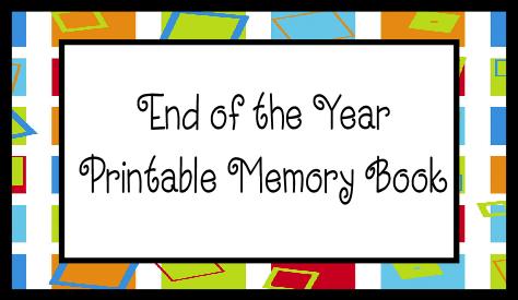5 Images of School Memory Book Printables