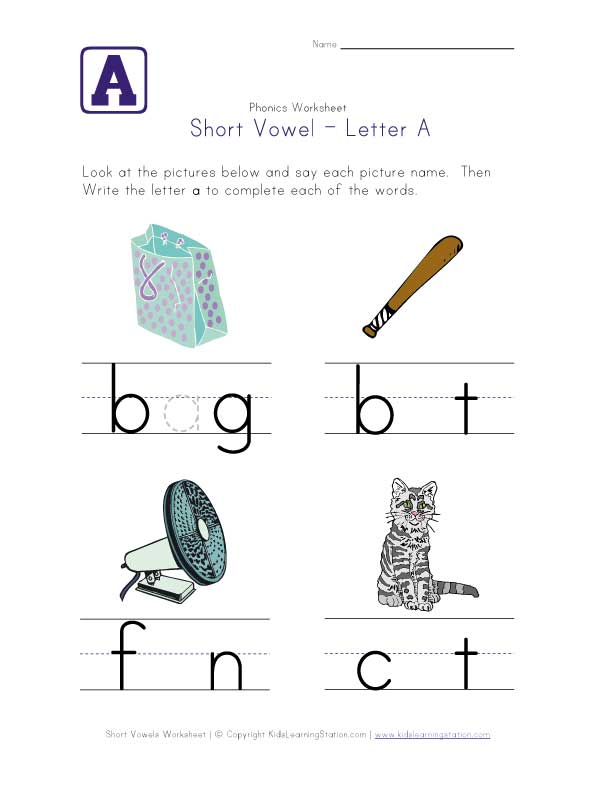 Printables Short Vowel A Worksheets free printable short vowel worksheets versaldobip sounds and long a